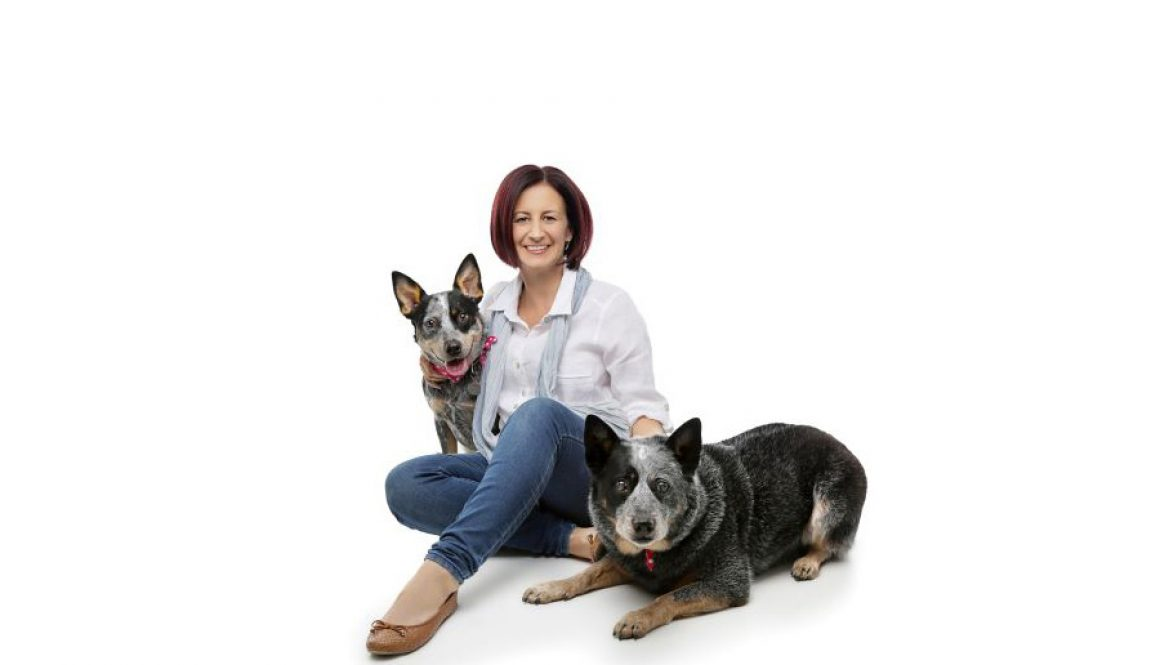 Vicky and two dogs